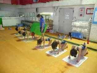関西強化 体操風景
