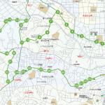 久末・蟹ヶ谷方面ルートの地図です。