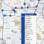 新丸子・小杉町方面ルートの地図です。