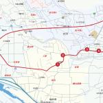 富沢方面ルートの地図です。