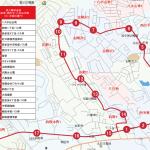 西多賀・西の平・八木山方面ルートの地図です。