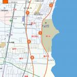 唐崎ルートの地図です。