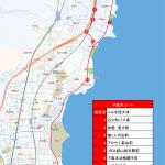 下阪本ルートの地図です。
