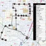 木月・井田病院方面ルートの地図です。