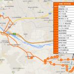 柳生・西中田方面ルートの地図です。