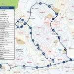 八木山南方面ルートの地図です。