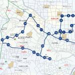 蟹ヶ谷・井田病院方面ルートの地図です。