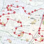 日吉本町方面ルートの地図です。