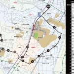 綱島西・日吉本町方面ルートの地図です。